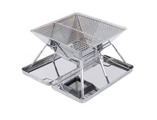 Stainless Steel Folding Charcoal BBQ Grill