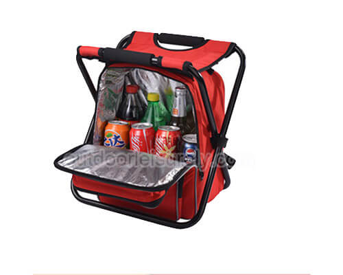 Collapsible Camping Seat with cooler backpack