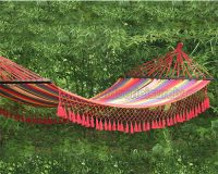 Fringed Swing Garden Bed Hammock 4