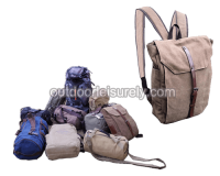 Genuine Canvas Travel Backpack 3