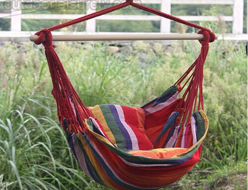 Hanging Rope Swing Seat  Hammock Chair +2 Seat Cushions Included